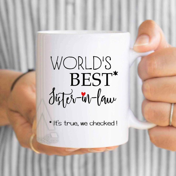 "gifts for sister in law, gifts for inlaws ""World's best sister in law"" coffee mug, birthday gift for sister in law mug, wedding gift MU506 by artRuss on Etsy"