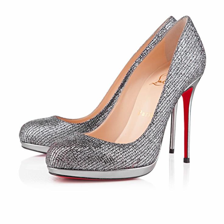 Christian Louboutin  filo 120mm silver lady glitter