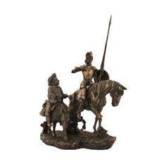 Wise Don Quijote WU75196A4 İncelemekte olduğunuz ürün bir Wise-Unicorn tasarımıdır. Ürünler yüksek kaliteli poli-reçine, soğuk döküm bronz, kalay ve porsele