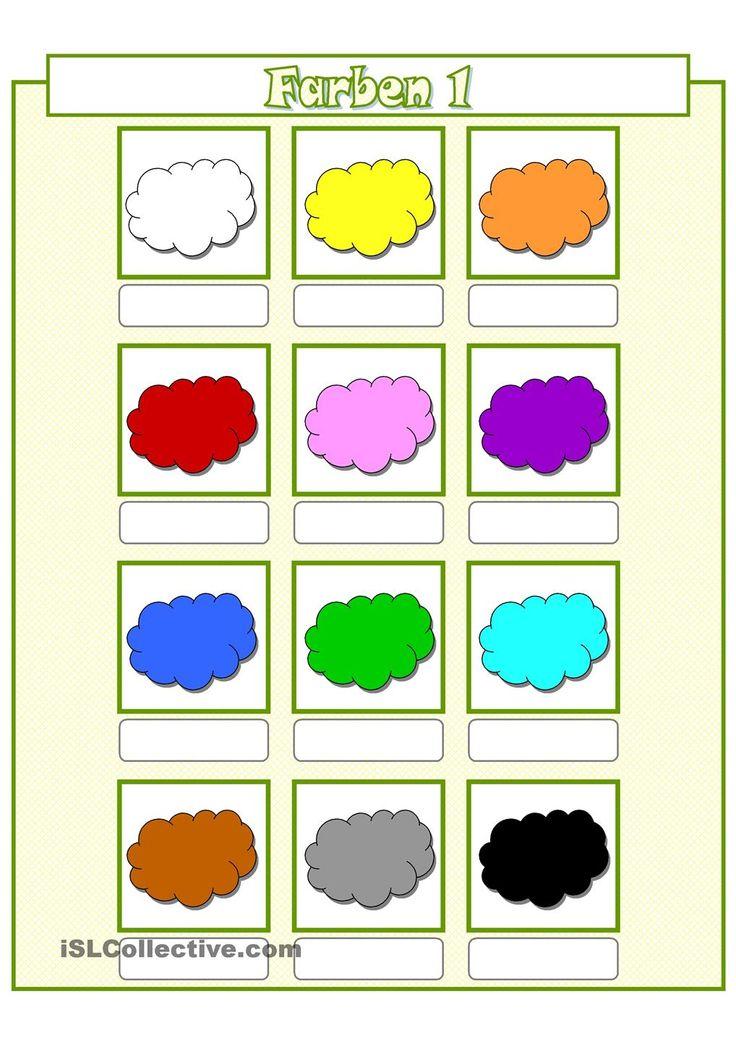 arbeitsblatt vorschule englisch farben lernen. Black Bedroom Furniture Sets. Home Design Ideas