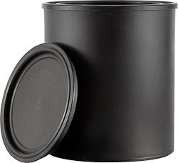 1 QUART ALL-PLASTIC BLACK CAN WITH LID | Ideal for applications such as paints, colorants, and water-based products. All plastic paint cans cannot be used for food. #paint #can #all #plastic