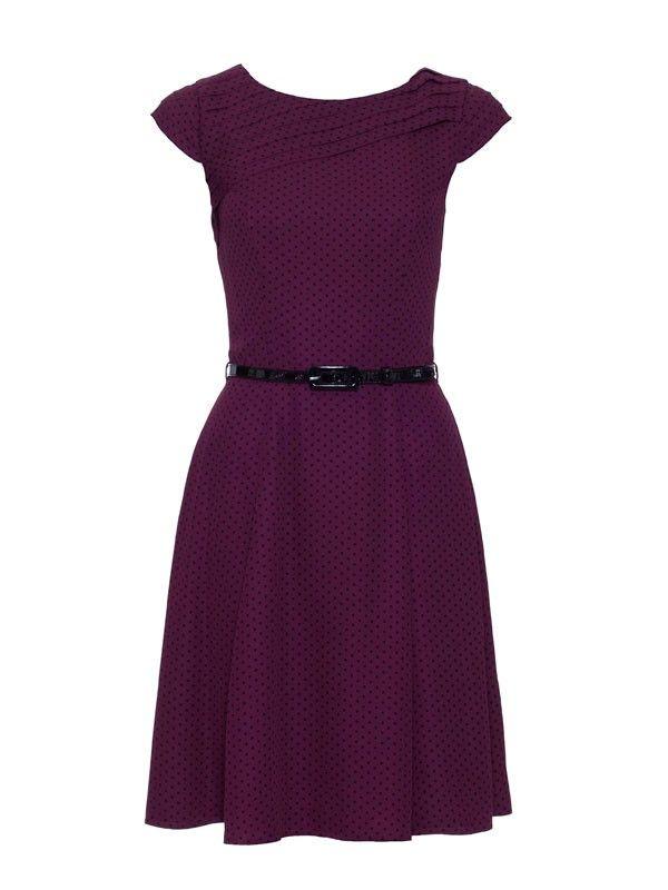 Review+Australia+|+Lorena+Spot+Dress+Wine+