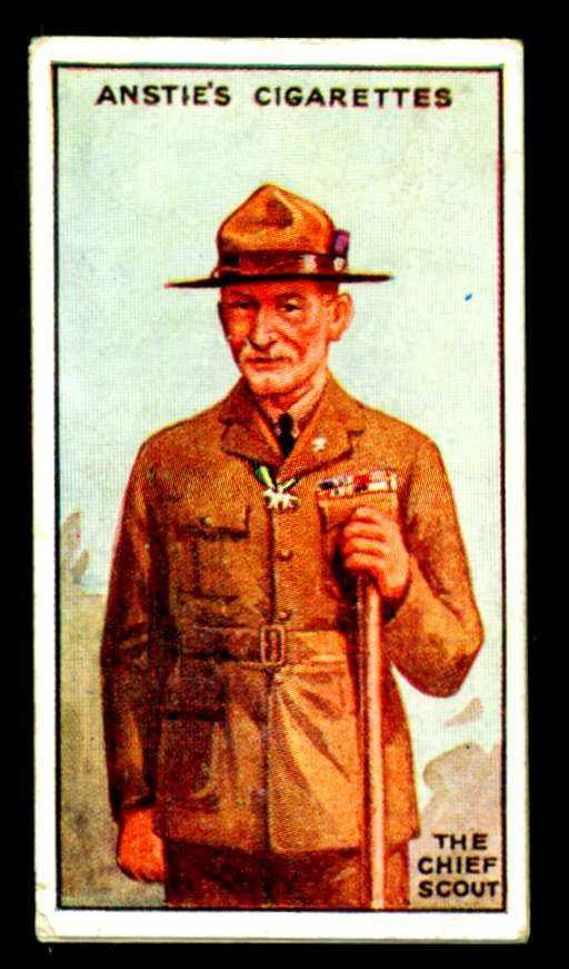 "Anstie's Cigarettes (Devizes) ""Scout Series"" 1923. No1 The Chief Scout ~ Robert Baden-Powell"