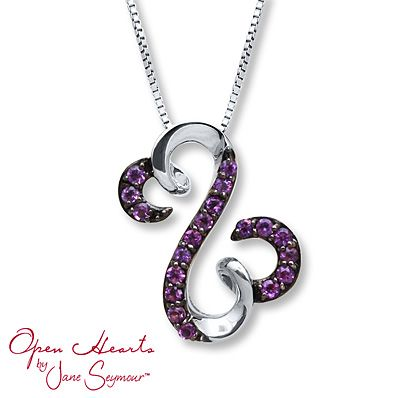 Love this one! Open Hearts Necklace Amethyst Sterling Silver