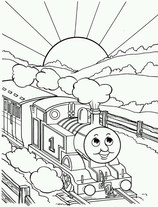Thomas the train coloring page coloring pages for Thomas the train coloring pages