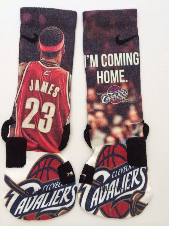 Lebron James Coming Home Custom Nike Elite Socks by LeagueReady, $30.00