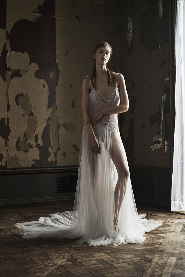 This delicate wedding gown by Vera Wang is flawless. You can rock it with or without a slip. #Bride #Weddingdress