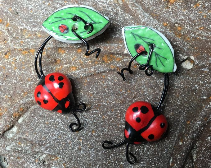 Love Bug, Ladybug Jewelry, Gift Gardener, Sweetheart, Family Jewelry, Mother Earring, Earth Day, Post Stud Earrings, Anniversary
