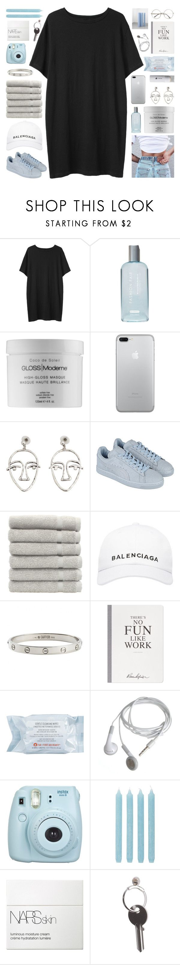 """COLLAB WITH VIA"" by constellation-s ❤ liked on Polyvore featuring Organic by John Patrick, Fashion Fair, GLOSS Moderne, MANGO, Puma, Linum Home Textiles, Balenciaga, Cartier, Selfridges and First Aid Beauty"
