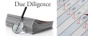 An Action Plan for Due Diligence which means that all sides have to decide on what issues