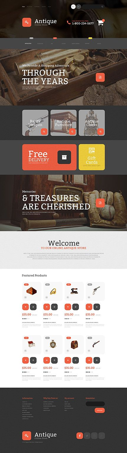 antique templates website inspirations at your coffee break browse for more magento templates