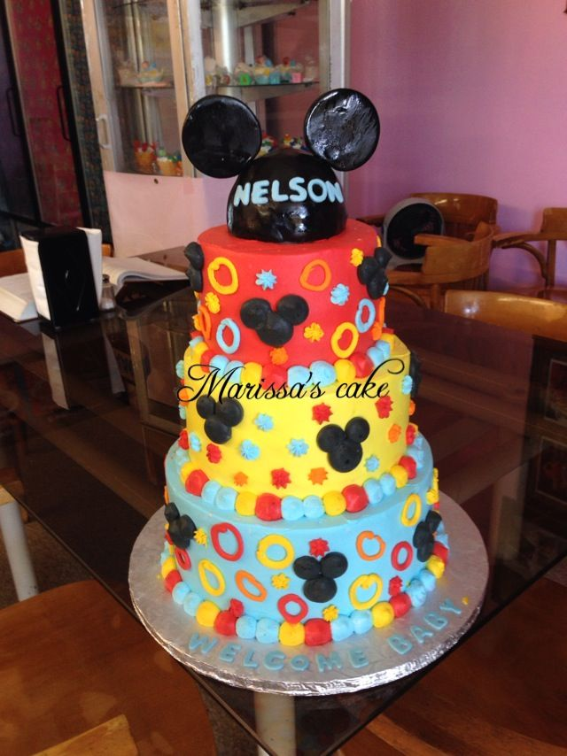 Mickey Mouse Baby Shower Cake Images : Mickey mouse baby shower cake. Visit us Facebook.com ...
