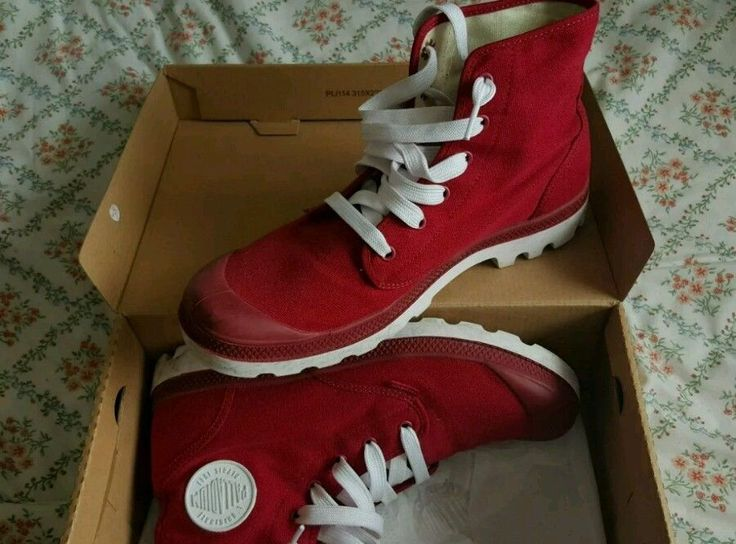 Very Rare Palladium Blanc Hi Mens Shoes size 9UK Red/White 43EU Hipster in Clothes, Shoes & Accessories, Men's Shoes, Boots | eBay