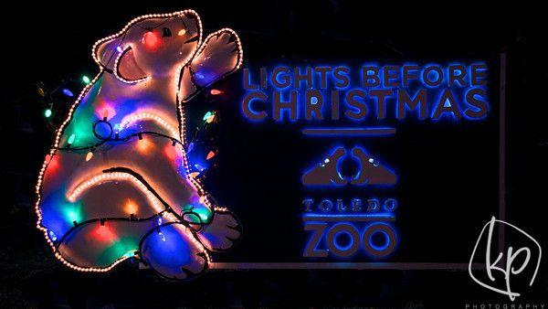 Lights Before Christmas at the Toledo Zoo. Photography of Christmas Lights