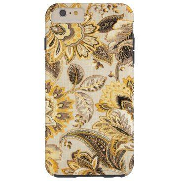 "Title : 102, Jacquard, Brocade Gold Floral Print Tough iPhone 6 Plus Case  Description : Fabrics, Textiles, Floral, Flowers, Tropical, Foliage, Plants, ""Flower-Designs"", ""Flower-Patterns"", Colorful, Pastel, Bright, Bold, ""Home-Décor-Gifts"", ""Pattern-Prints"", Brocade, Jacquard, ""Quilt-Designs"", ""Patchwork-Flowers"", Satin, ""Flower-Drawings"", ""Flower-Art"", ""Flower-Clipart"", ""Floral-Cartoons"", ""Flower-Decals, ""Floral-Designs"", ""Bling-Flowers"", ""Flower-Collage"", ""Floral-Backgrounds""…"