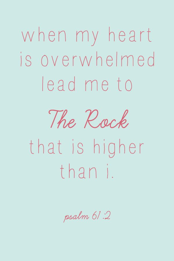 Christ is my Rock!