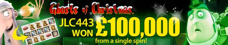 A Betfred Casino customer won £100,000 playing the Ghosts of Christmas slot game - for more information, visit: http://www.casinomanual.co.uk/100k-ghosts-christmas-slot-winner-betfred-casino/