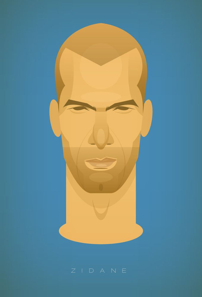 Zidane, by Stanley Chow: Graphic Design, Football, Illustrations, Sports, Zinedine Zidane, Stanley Chow, Caricatures, Soccer