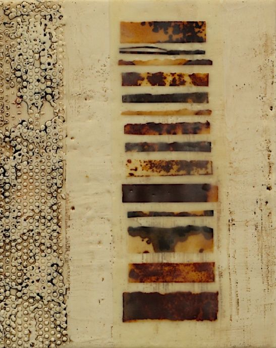 Artist Nancy Vorm | Encaustic, rust, beeswax