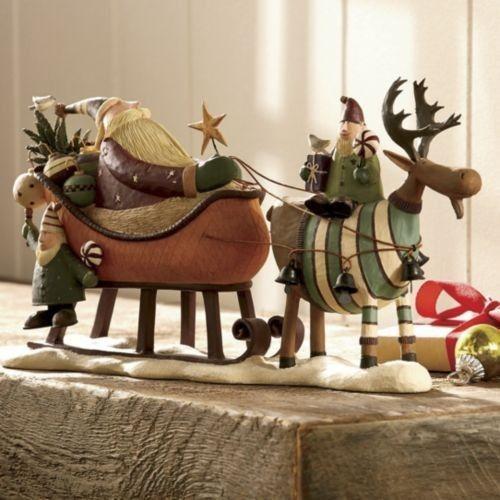 "Retired Williraye Studio Folk Art We ""Wish You A Merry Moose mas"""