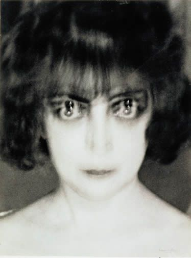 Man Ray famous photograph of Marchesa Luisa Casati, actually the result of a technical error, but as he feared, it created quite a demand for him to create similar portraits for others.