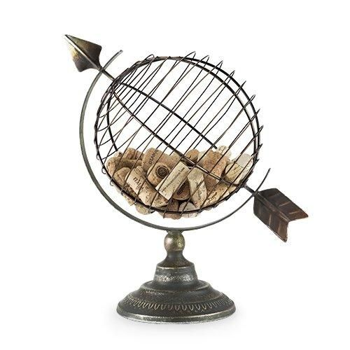 Cork Holders, Metal Decorative Unique Rustic Cork Holder Globe
