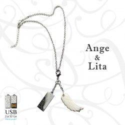 Collier clé USB ANGE & LITA