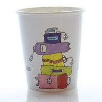 Vote for our new coffee cup design. This design is called Bags by Elin Österberg. Vote for it at www.flysas.com/design
