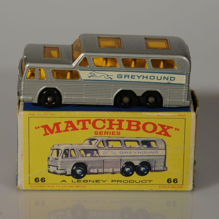 Lesney Matchbox Greyhound Bus #66C NMIB 1967
