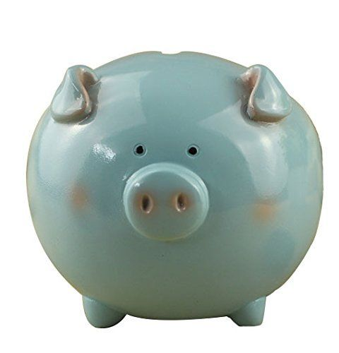 Zching Resin Piggy Bank Toy Banks For Kids S Personalized Nursery Decor Blue2