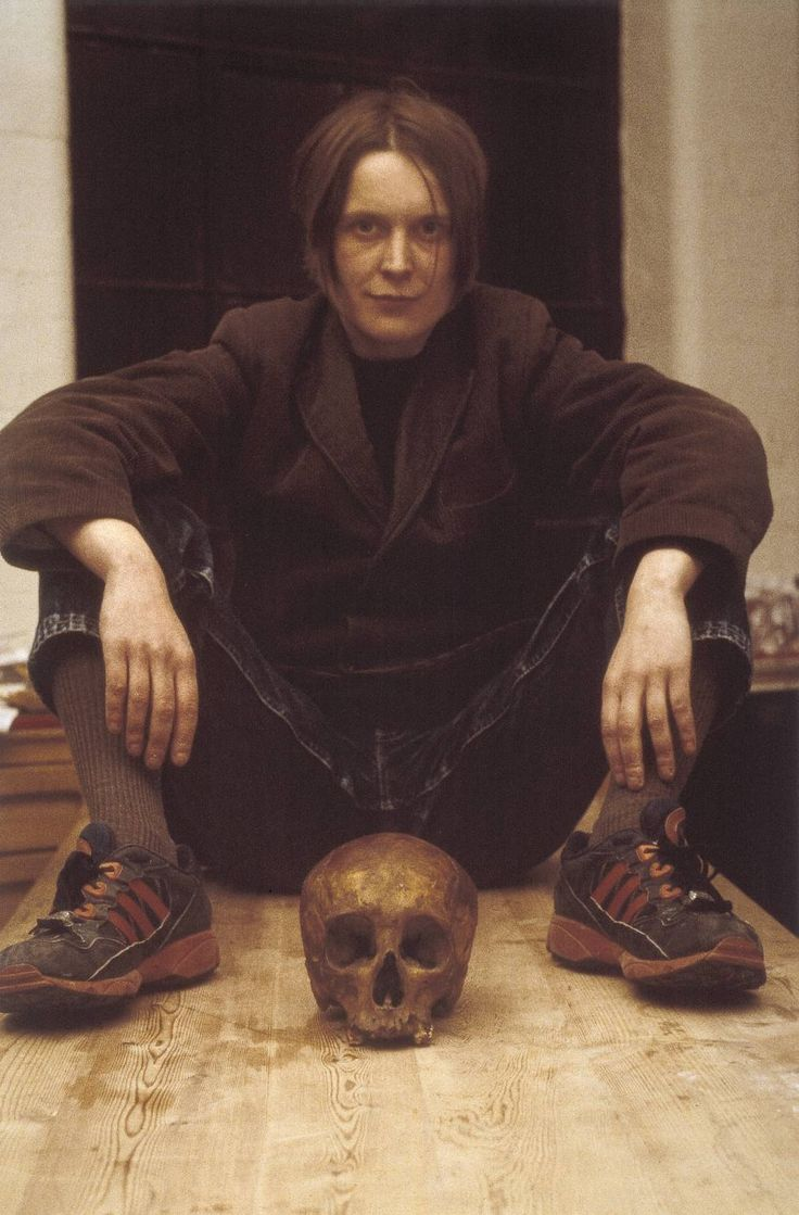Self Portrait with Skull, Sarah Lucas, 1997