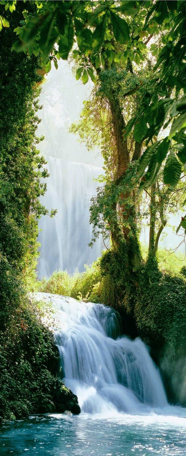 This is exactly the image I have of the Biblical Garden of Eden Aragon : Landscape waterfall - Piedra Falls, Zaragoza, Spain