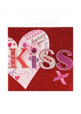 valentine kiss cards