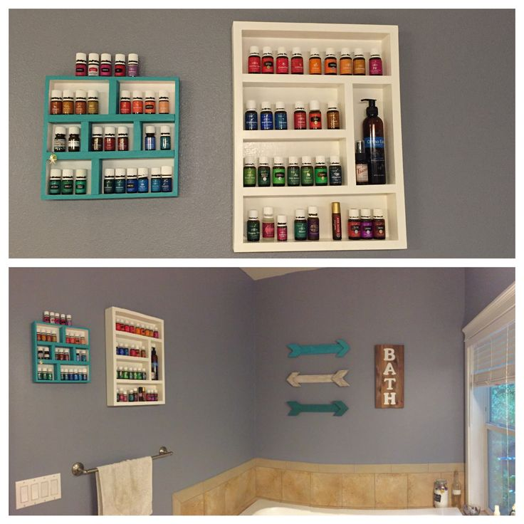 I made some storage for my Young Living Essential Oils! I love how it turned out and how much easier it is to find them! Member #2273715
