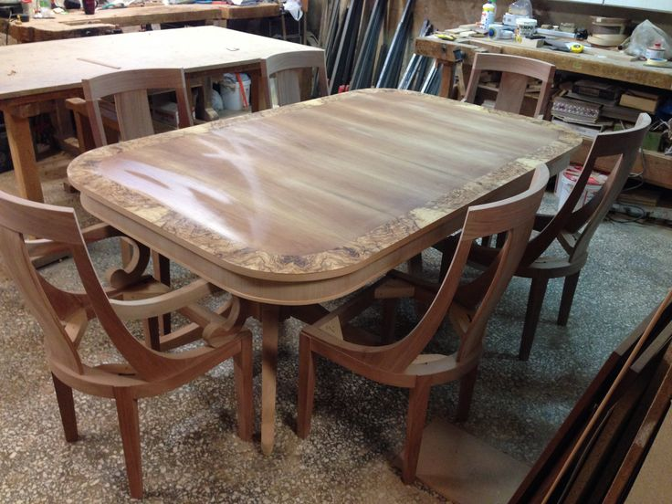 Dinner table  with chair  Custom design and materials