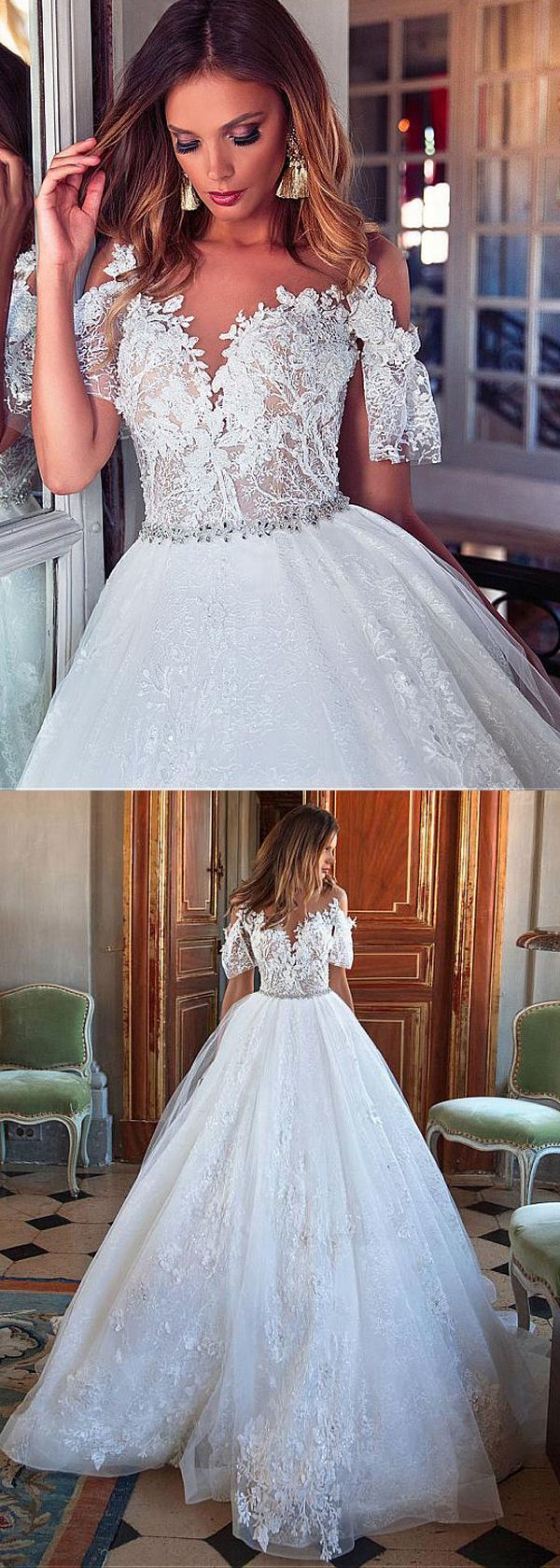 The 991 best Wedding Dresses A-Line images on Pinterest | Lace ...
