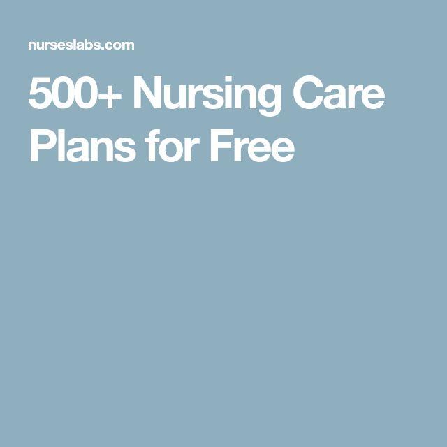500+ Nursing Care Plans for Free
