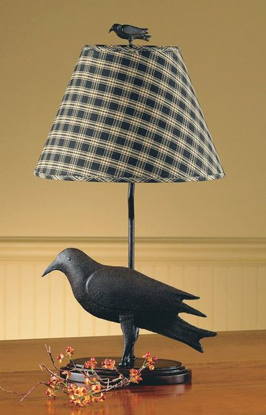 Old Black Crow Ornies & Cinnamon Scented Fixins-Crow Lamp,Metal Crow Lamp,Crow Lamp Shade,Park Designs,Sturbridge,Crow Collection,Crow Designs,Country Lighting,Country Lamp,Primitive Lighting,Primitive Lamp,Primitive Crow Lamp,Country Primitive Lighting,Country Primitive Home Decor,Primitive Home Decor