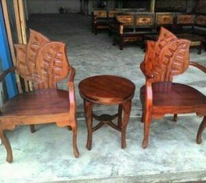 Kursi Teras Daun Kayu Jati | Alfah Furniture