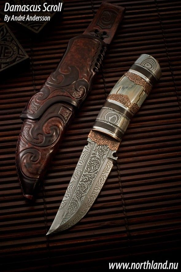 www.pinterest.com/1895gunner/  Work from 2008 | André Andersson Custom Knives