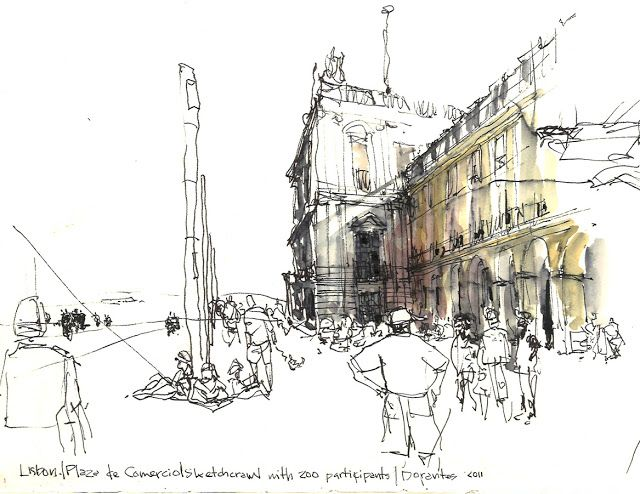 4th International Urban Sketching Symposium: Dynamic Ink: Using Non-waterproof Ink Creatively (Workshop F), Norberto Dorantes