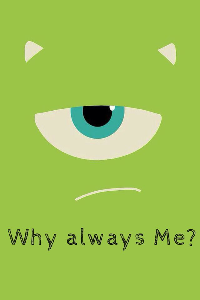TAP AND GET THE FREE APP! Art Creative Green Fun Quote Question Eye Monster Cartoon HD iPhone 4