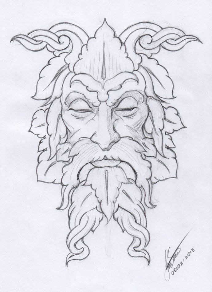 green man | Making of the Greenman by Isis Sousa, Norway Web: www ...