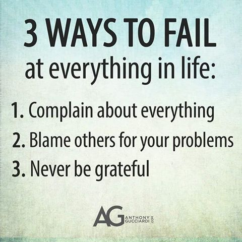 3 ways to fail at everything in life: