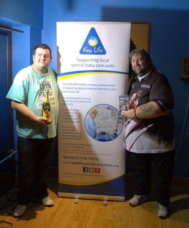 Our charity darts night with Andy Fordham