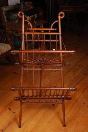 Victorian Oak Magazine Rack
