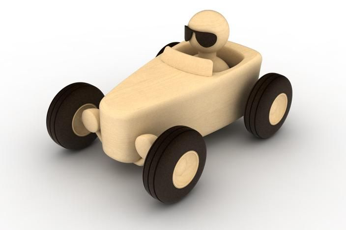 Hot Rod Toy - Rhino, STEP / IGES - 3D CAD model - GrabCAD