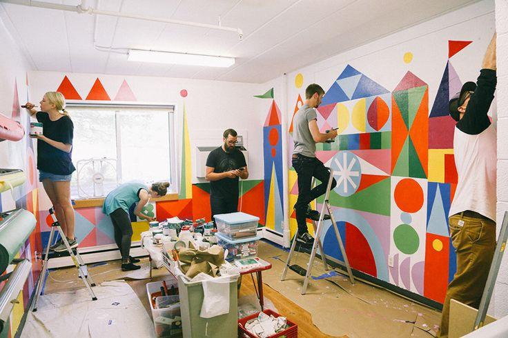 Crisis Nursery Art Room Mural - Sara Lintner
