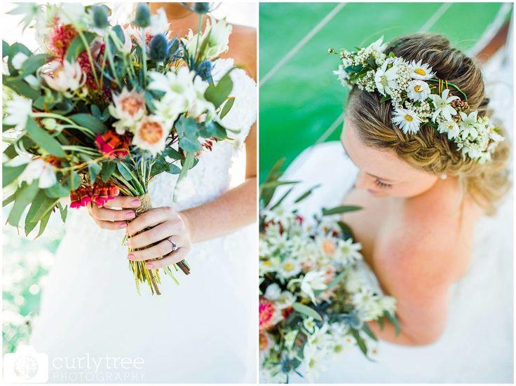 Lakehouse Cafe Wedding Photos - Kim+Mitch -Australian Native Bouqet and Flower Crown