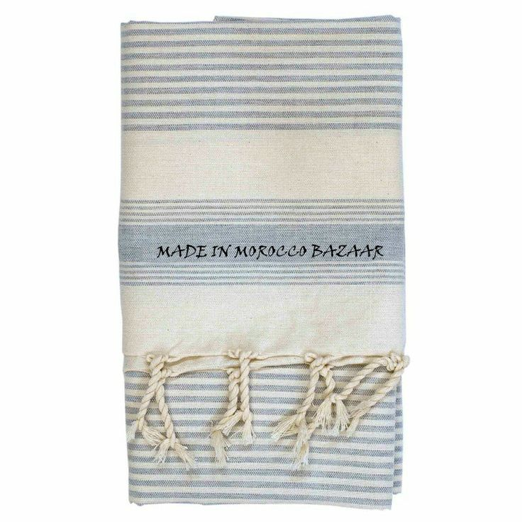 Incredible Moroccan Hand Woven Cotton Striped Beach Towels, View 100% cotton towels, Fouta Hammam Beach Towel Product Details from MADE IN MOROCCO BAZAAR SARL on Alibaba.com